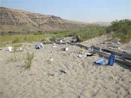 Illia Dunes is closed until further notice due to health and safety concerns caused by visitors's trash. During the past weekend, more than 3,000 visitors descended upon the dunes, a popular recreation site located at Snake River Mile 102 on the south shoreline about three miles downstream of Lower Granite Lock and Dam. As result, enormous amounts of trash were scattered on the beach, broken bottles and beer cans left in the water, refuse strewn about the parking lots and litter discarded along the roadway, creating potential health and safety hazards for future visitors.