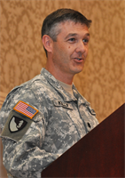 Lt. Col. Andrew D. Kelly assumes command of the U.S. Army Corps of Engineers, Walla Walla District during a change-of-command ceremony held in Walla Walla, Wash., on July 10.