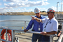 Tony Fink advises Engineer in Training Student Seth Thompson at McNary Lock and Dam near Umatilla, Ore. in 2009.